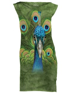 The Mountain Vibrant Peacock Mini Kleid grün-blau