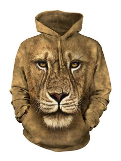 The Mountain Lion Warrior Hoodie braun