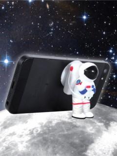 Astronaut-Handyhalter Dekoration weiss