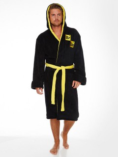 Breaking Bad™-Bademantel mit Kapuze schwarz-gelb