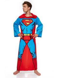 Superman™-Umhang Lizent blau-rot