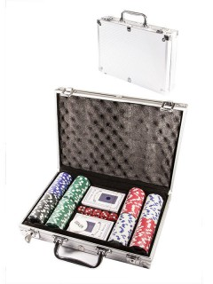 Deluxe Poker Set Party-Spiel 208-teilig bunt 30x22x7cm