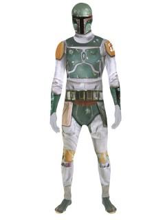 Star Wars Boba Fett Digital Morphsuit Lizenzware grau-grün