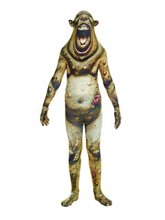 Beulenpest Monster Kinder Morphsuit Halloween grün