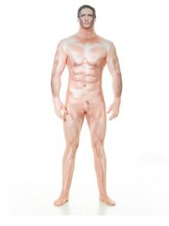 Zensierter Nackter Mann Morphsuit hautfarben