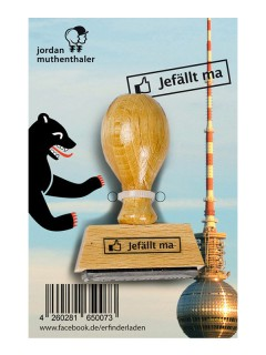 Stempel Jefällt ma Berlin Scherzartikel braun 6,5cm