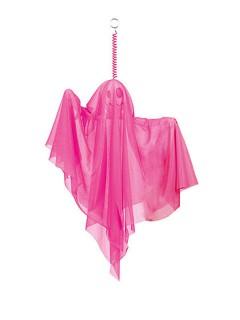 Gruseliger Geist Halloween Party-Deko neon-pink 50cm
