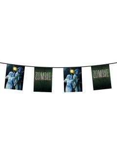 Wimpelkette Zombie Halloween Party-Deko bunt 600x28,5cm