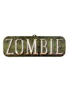 Zombie Hängeschild Halloween Party-Deko bunt 18x55cm