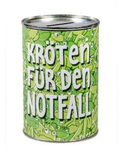 Kröten-Spardose grün-weiss 11x7,5cm