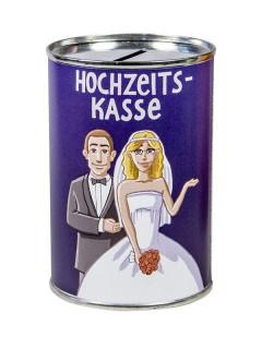 Hochzeitskasse Spardose lila-bunt 7,5x11cm