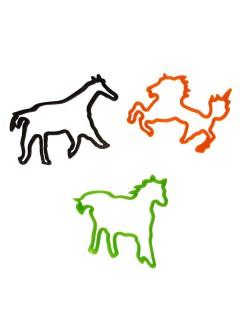 Silikon Zauberband mit Farbwechsel Pferde Set 13-teilig bunt