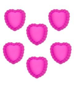 Herz-Muffin-Backformen 6 Stück rosa 6x4x3cm