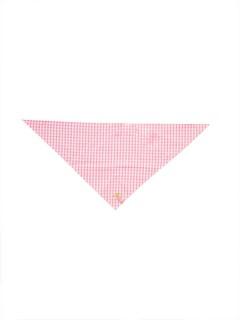 Trachten Baby-Tuch kariert pink-weiss 59x26cm