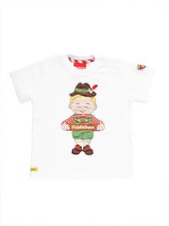 Trachten Baby T-Shirt Gipfelstürmer weiss-bunt