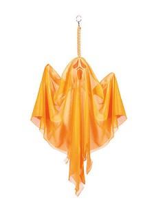Gruseliger Geist Halloween Party-Deko neon-orange 50cm