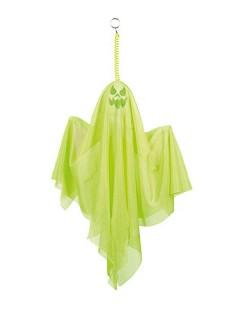 Gruseliger Geist Halloween Party-Deko neon-grün 50cm