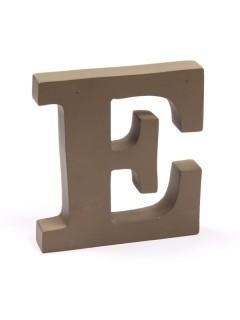 "Holzbuchstabe ""E"" Dekoartikel braun 15x15x2,5cm"