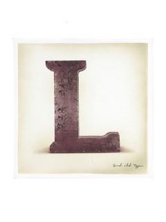 Buchstaben-Deko  L  braun 30x30cm