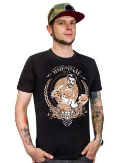 Veganer-Shirt T-Shirt Vegan Power schwarz-braun