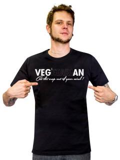 Veganer-Shirt T-Shirt Cut the Crap out schwarz-weiss