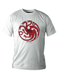 Targaryen-T-Shirt Game of Thrones™ weiss-schwarz-rot