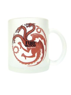 Game of Thrones-Tasse Targaryen Lizenzware weiss-rot 320ml