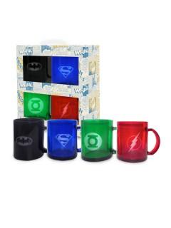 DC™-Superhelden Tassen-Set 4 Stück bunt