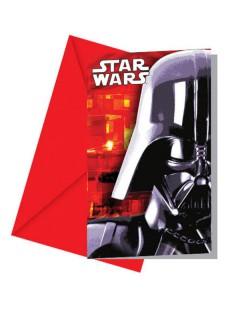 Star Wars Einladungskarten mit Umschlag 6 Stück bunt 9x14cm