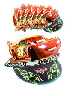 Disney Cars Party-Schildmützen 6 Stück bunt 53x12cm