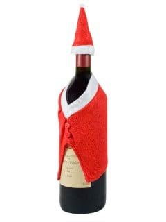 Weihnachtliche Flaschendeko rot