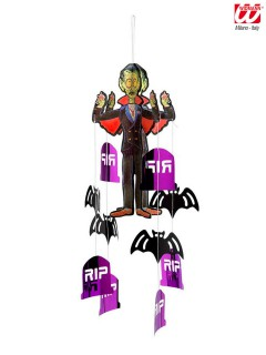 Vampir Halloween Hängedeko Mobile schwarz-lila 50cm
