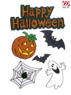Happy Halloween Fenster-Aufkleber Set 6-teilig bunt