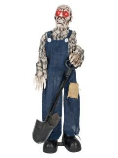 Zombie Totengräber Halloween-Dekofigur blau-grau 75cm