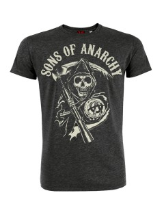 Sons of Anarchy™-Lizenz-T-Shirt grau-weiss