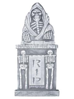 Grabstein Gevatter Tod Skelett Halloween Party-Deko grau 33x91cm