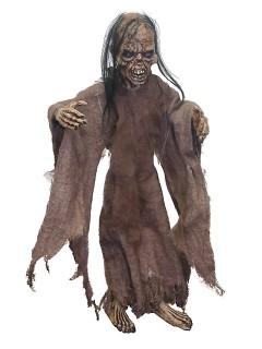 Zombie-Puppe Marionette Halloween Party-Dekofigur braun 36x30x10cm