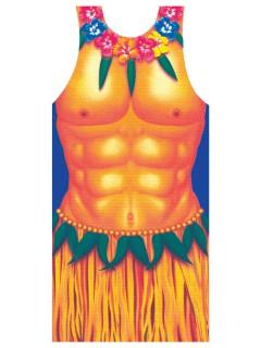 Hawaii Schürze Hula-Boy bunt
