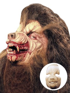 Werwolf Halloween Latex-Applikation beige