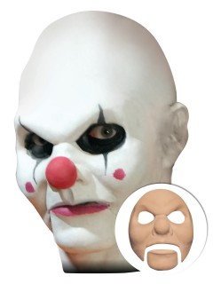 Horror Clown Halloween Latex-Applikation beige