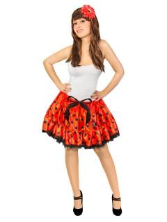 Marienkäfer Petticoat mit Punkten rot-schwarz