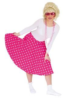 Rock 'n' Roll Rock mit Punkten rosa-weiss