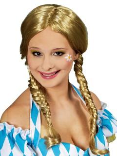 Süsse Zopf-Perücke geflochten blond