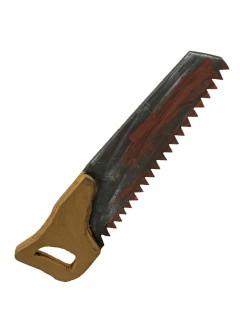 Blutige Horror-Säge braun-grau-rot 43x11cm