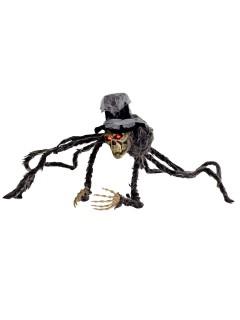 Schaurige Totenkopf-Spinne Halloween Party-Deko schwarz-rot 70x70cm