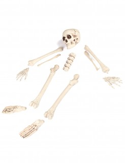 Sack mit Knochen Halloween Party-Deko Set 12-teilig beige