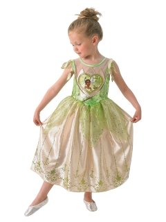 Disney™ Prinzessin Tiana™ Kinderkostüm Lizenzware grün-gold