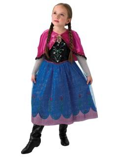 Disney Frozen Anna Kinderkostüm mit Licht und Sound Lizenzware bunt