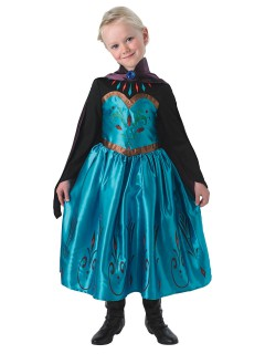 Disney Frozen Elsa Prinzessin Kinderkostüm Lizenzware türkis-schwarz