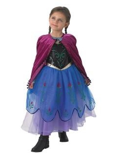 Disney Frozen Anna Prinzessin Kinderkostüm Lizenzware schwarz-lila